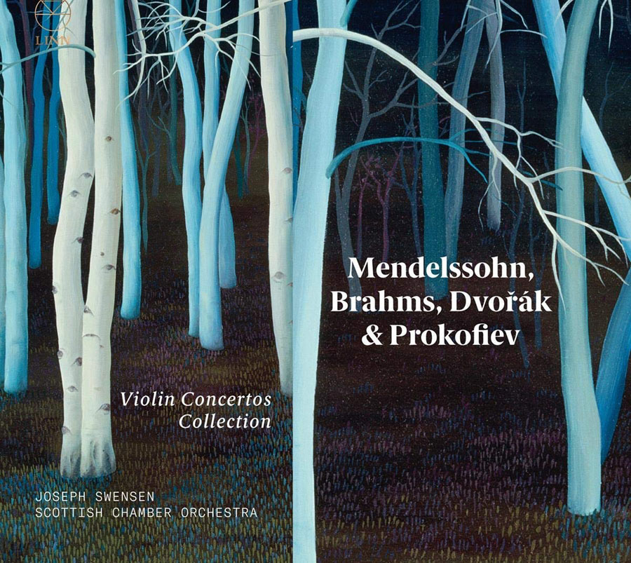 Well crafted collection of violin concertos and partnering
